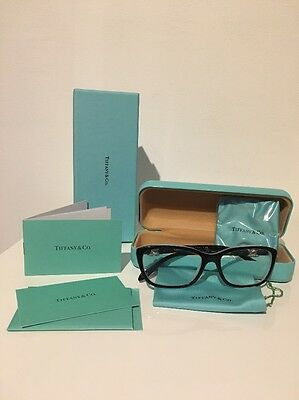 Authentic TIFFANY & CO. Black&Blue Spectacles Glasses Frame TF 2074 8055 54mm