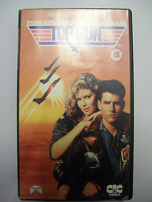 TOP GUN [1987] VHS – Classic 80s blockbuster – Tom Cruise – BARGAIN!