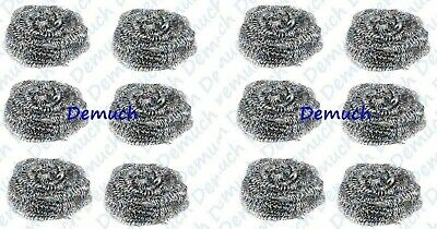 New 6 Pack STAINLESS STEEL SCOURERS Wire Kitchen Cleaning Washing Up Pads UK ✔