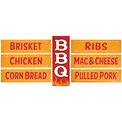 BBQ and Sides Vertical Wall Decal Set Kitchen Decor