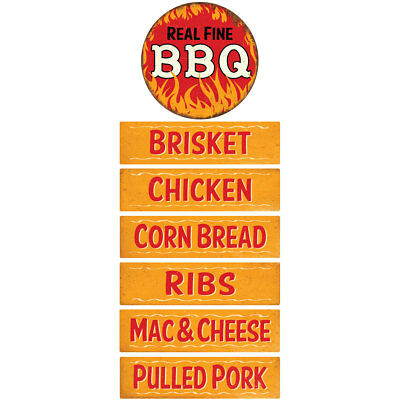 Real Fine BBQ and Sides Wall Decal Set Kitchen Decor