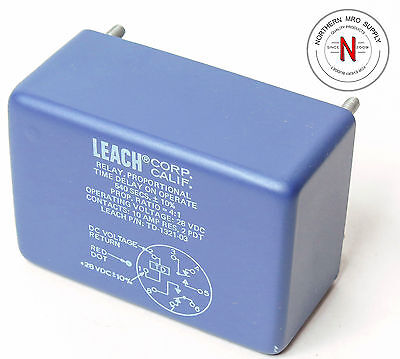 Leach Td-1321-03 Relay, Time Delay On Operate, 540Secs, 28Vdc, 10A, 2Pdt
