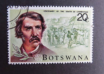 Botswana 1973 Death Centenary Dr Livingstone 20c SG309 used as photo