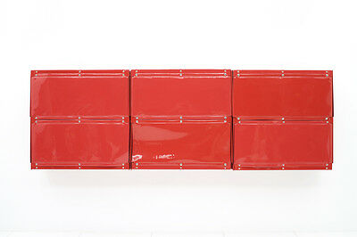 Rare Otto Zapf Red Plastic Shelf System Germany 1971 InDesign, Vitsoe Zapf