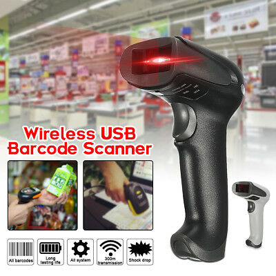 Wireless Handheld POS USB Laser Scan Barcode Reader Bar Code Scanner 2 Color