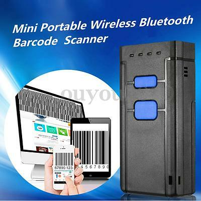 Portable Wireless Bluetooth Barcode Laser Scanner Code Reader For iOS / Android
