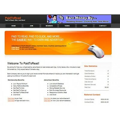 Paid To Read Turnkey Website  - Make Money - High Income Potential