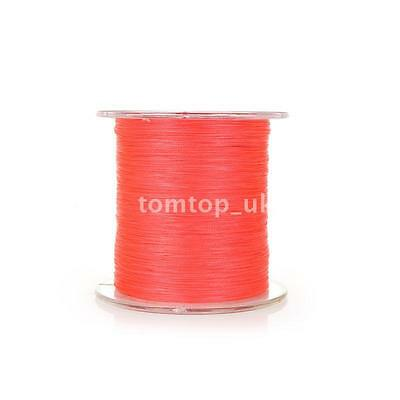300M 50LB 0.26mm Fishing Line Strong Braided 4 Strands Red N9U5