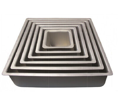 PME SQUARE Anodised Aluminium Birthday Party Cake Tray Baking Pan Tin Bakeware