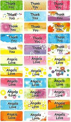 Personalized Waterproof Name labels stickers, 36 Muticolor , day care, school,