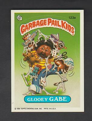 1986,TOPPS CHEWING GUM,GARBAGE PAIL KIDS,*GLOOEY GABE*-*123a*