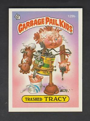1986,TOPPS CHEWING GUM,GARBAGE PAIL KIDS,*TRASHED TRACY*-*129b*