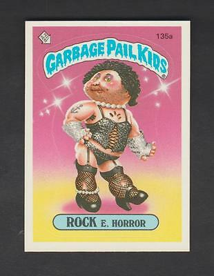 1986,TOPPS CHEWING GUM,GARBAGE PAIL KIDS,*ROCK E HORROR*-*135a*