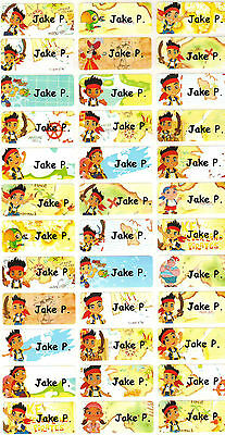 Personalized Waterproof Name labels stickers,36 Jake the pirates, school , day