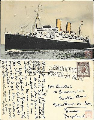 Angleterre - PAQUEBOT - DUCHESS OF RICHMOND - Posted at Sea 1929 - Glasgow
