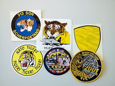 Embroidered Patches and Stickers - NATO Tiger Squadrons Meet (6 items in total)