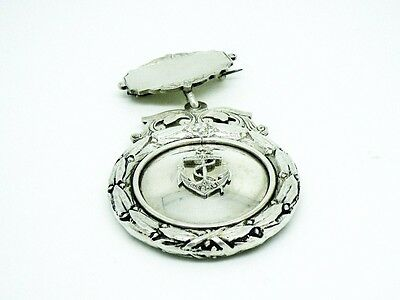 Silver Boys Brigade Medal, Sterling, BB, English, Hallmarked 1925, Sure Stedfast