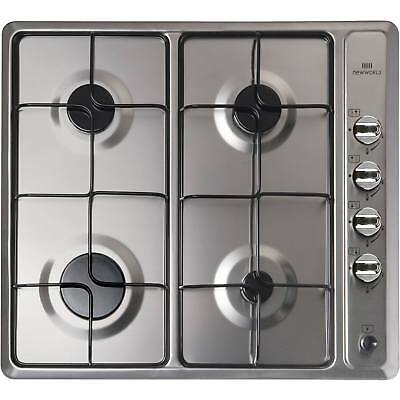 New World GHU601 60cm Gas Hob with 4 Burners and FSD in Stainless Steel