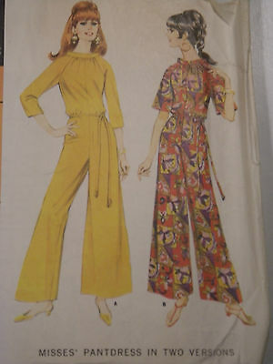 Vintage 1960s Pantdress Sewing Pattern McCall's #8883 Size 12