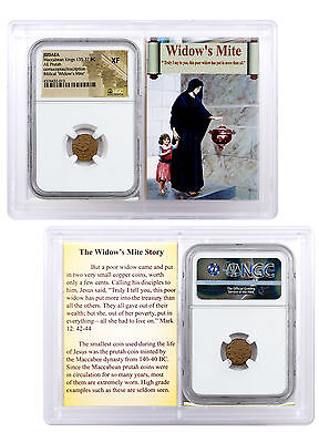 Widow's Mite Bronze Maccabean Kings Cornucopias & Inscriptions NGC XF SKU45213