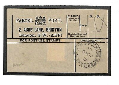 "N248 1901 London. Parcels. Note: ""Seldom seen office"""