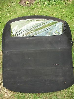 MGF MGTF Black Soft Top with New Rear Screen