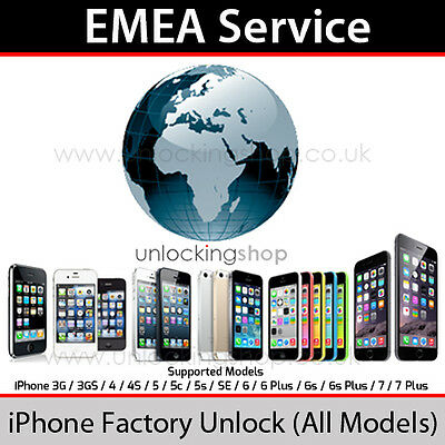 EMEA Service iPhone Factory Unlock Service (All Models Supported)