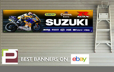 Suzuki GSXR Corona Alstare Garage Banner for Workshop, Garage, 600, 750, 1000