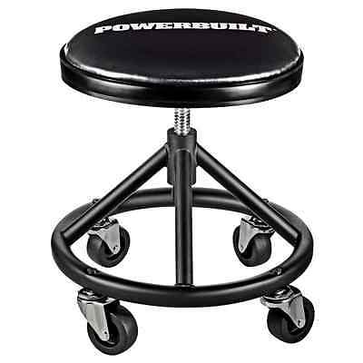 Powerbuilt 620478 Heavy Duty Rolling Brake Stool Mechanic Seat