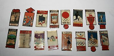 Lot De 16 Pin's Collection 1990 Coca-Cola Jeux Olympique De 1896 À 1992