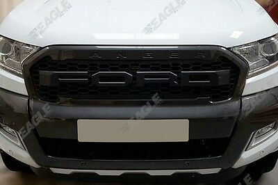 Ford Ranger T6 Wildtrak Front Grille Upgrade Raptor Style - BLACK LETTERS  *UK*