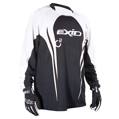 CLEARENCE Adult XL Exid Trials Trail Jersey Black White XLarge SALE!