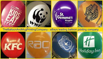 "1000 Promotional Custom Printed Latex 12"" Balloons - Business Advertising NEW"
