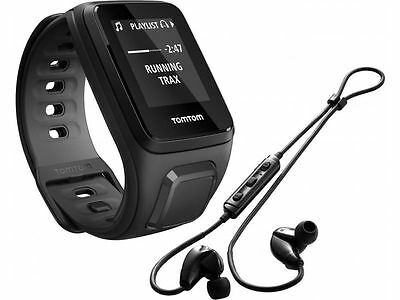 New TomTom Runner 2 GPS Watch Music + Headphones Black with Heart Rate Monitor