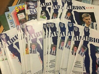 West Brom Bromwich Albion WBA HOME programmes 1991/92 Division Three