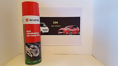 1 x Wurth Dry Chain Lube High Performance 500ml