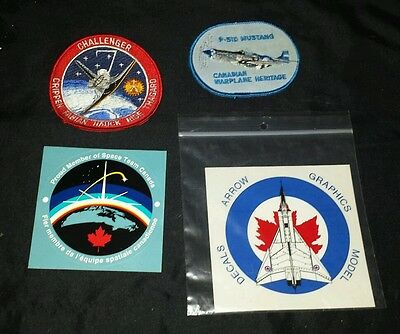 Lot of Space and airplane patches and stickers