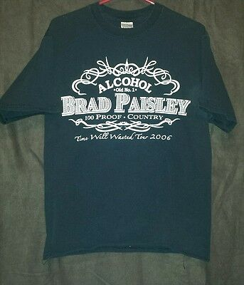 Brad Paisley -- Time Well Wasted Tour 2006 t shirt