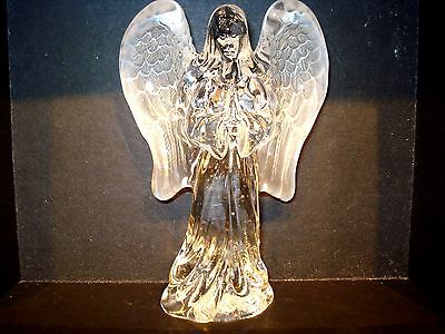 *lead Crystal Angel Ornament Beautifully Styled Front And Back