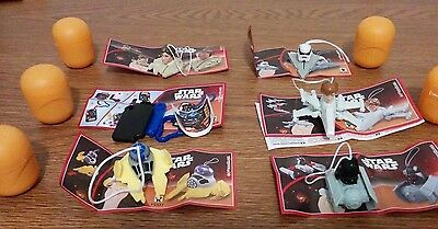 STAR WAR KINDER Egg surprises assorted lot of 6