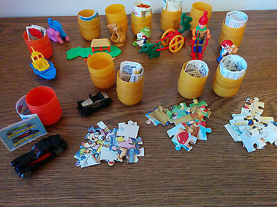 KINDER Egg surprises lot of 13 from 1992-95 cars puzzles other figures