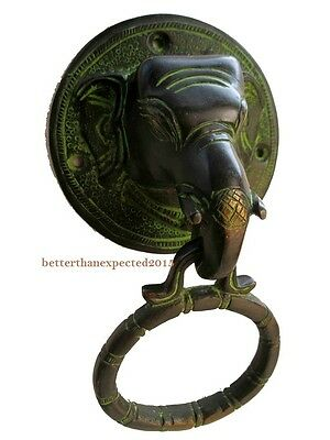 Brass Elephant Door Knocker Handle Vintage Antique Finish Home Decor Unique New