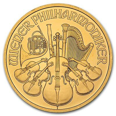 Random Year 1 oz Gold Austrian Philharmonic Coin - SKU #85597