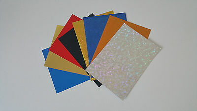 A4 Assorted Mixed Craft Pack- Holographic, & Coloured Board Weights included