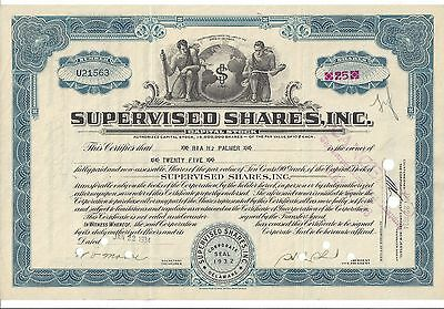 Supervised Shares Inc......1934 Stock Certificate