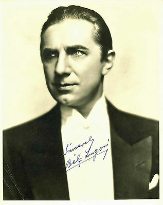 """Bela Lugosi Dracula """"Sincerely"""" Authentic Signed Sepia 8X10 Photo BAS #A00307"""