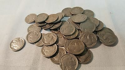 Lot of 40 assorted date Buffalo Nickels