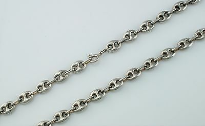 "18"" Long 925 Solid Sterling Silver Marine / Gucci Style Chain Necklace"