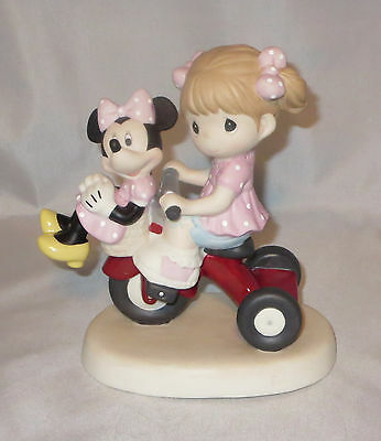 Girl Minnie Mouse Precious Moments Riding Trike Tricycle Disney Always Room NWOB