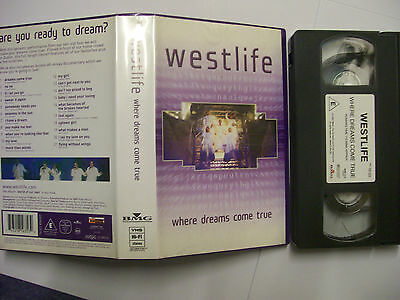 WESTLIFE Where Dreams Come True – 2001 UK VHS – Pop – BARGAIN!